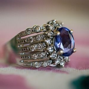 LeVian White Gold 2.70 TCW Tanzanite, Diamond Ring